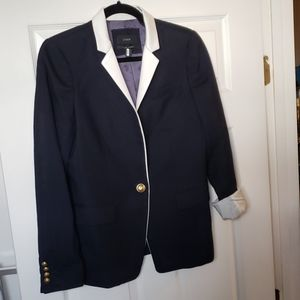 Used J Crew Navy Blue Blazer